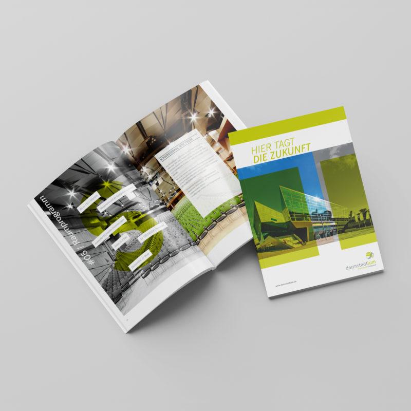 Gestaltung der Imagebroschüre des darmstadtiums