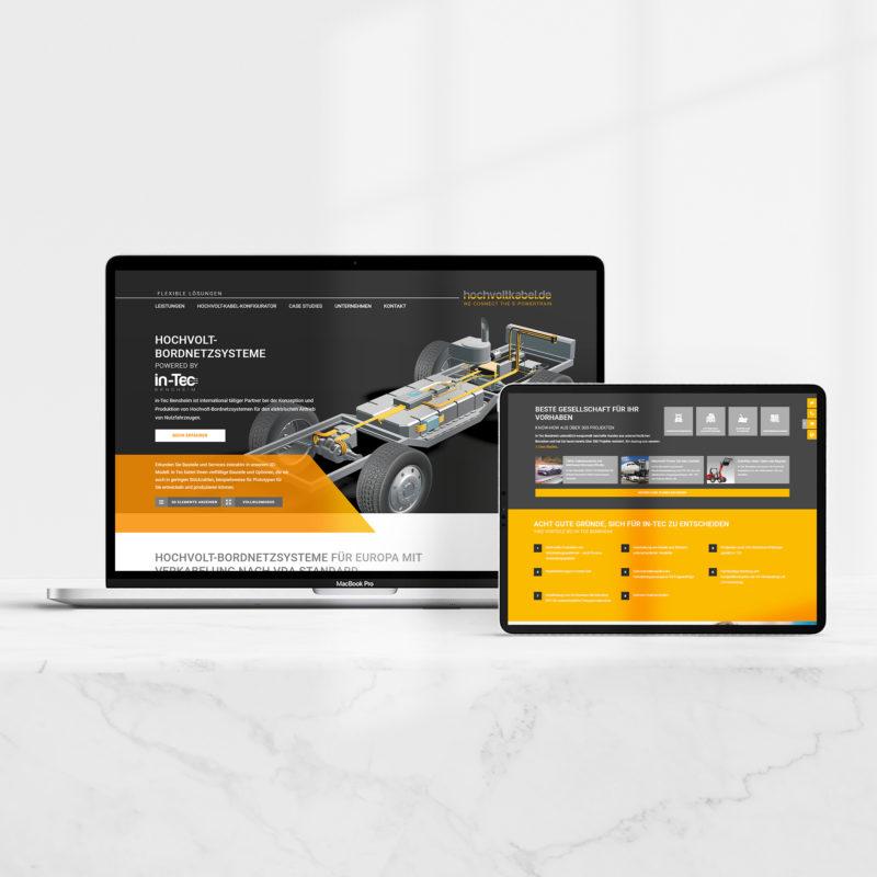 Gestaltung der Webseite mit integriertem 3D-Modell