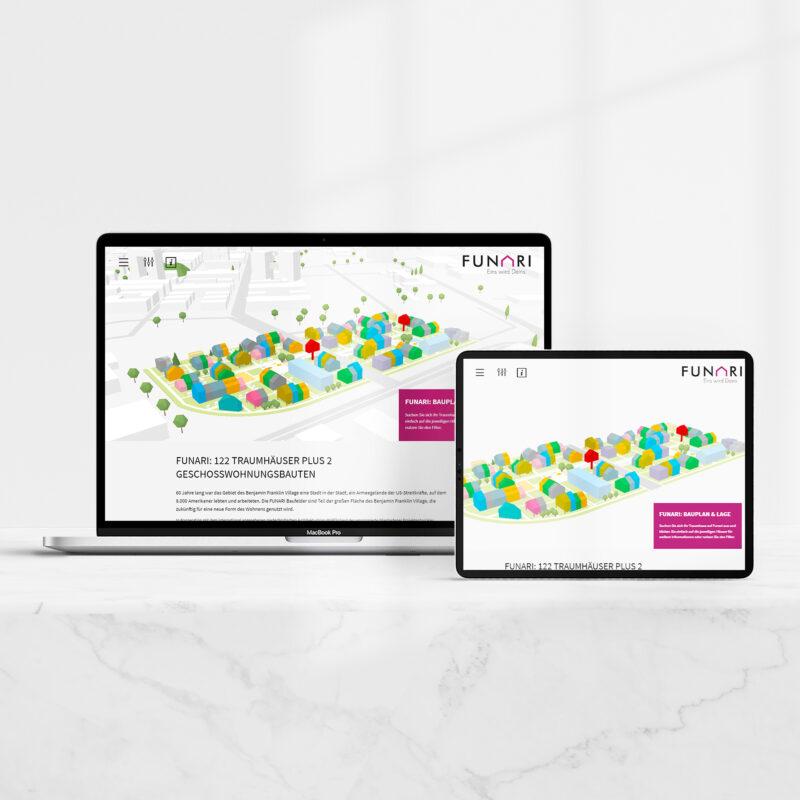 Gestaltung und Programmierung der Webseite